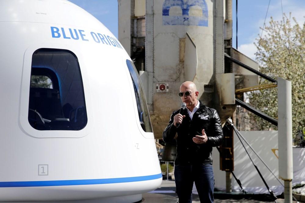 Dünyanın en zengin insanı Jeff Bezos'un uzay yolculuğu gerçekleşti - 7