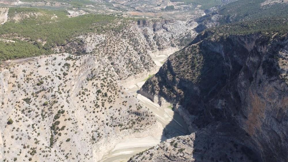 Doğa harikası İnceğiz Kanyonu'nun suyu çekildi - 4