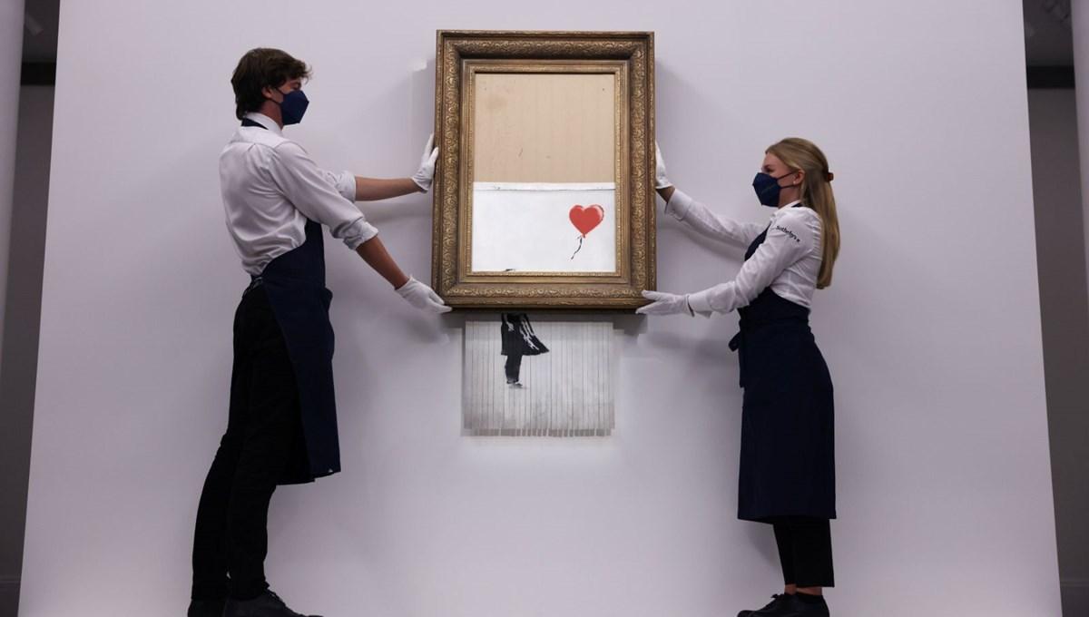 Banksy kendi rekorunu kırdı: 'Parçalanan' esere 18,5 milyon sterlin