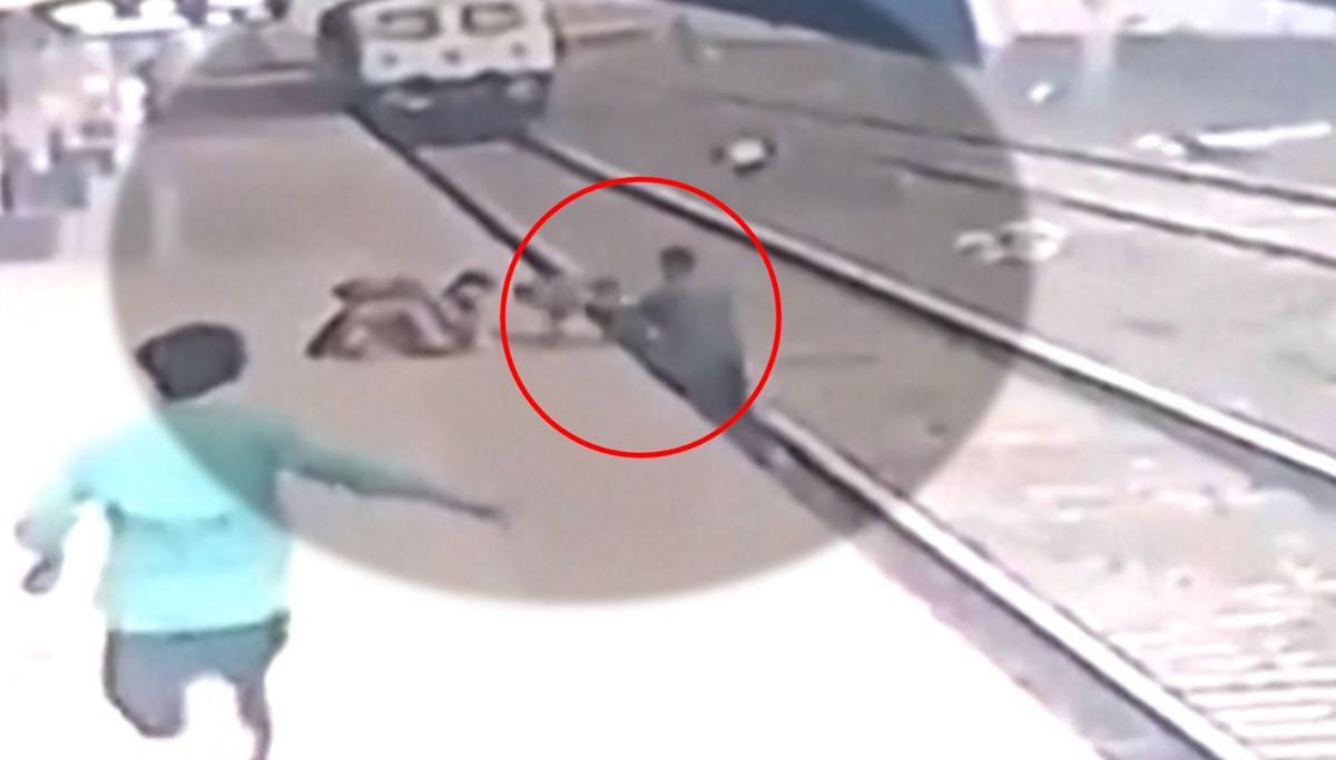 He saved the boy who fell on the tracks at the last minute