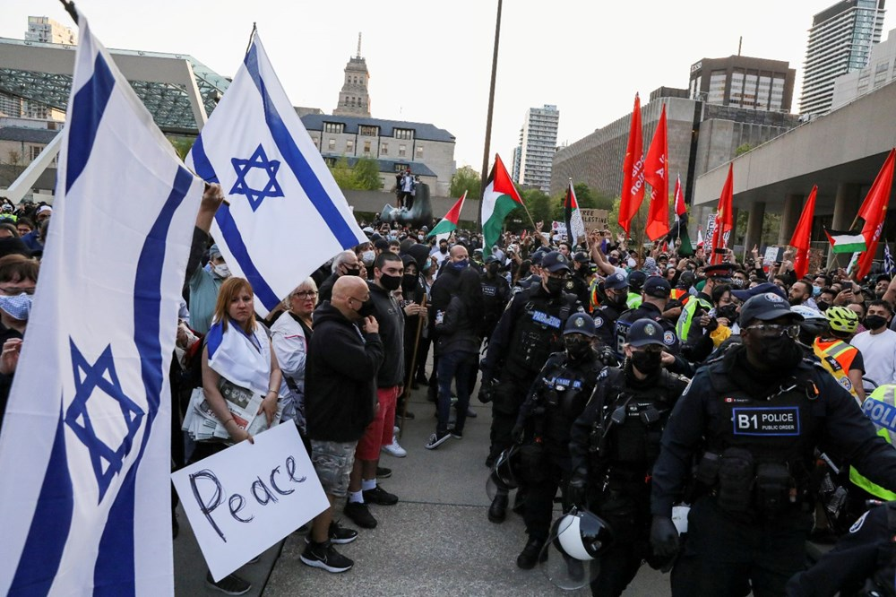 Israel's attacks on Palestinians were protested in Canada - 10