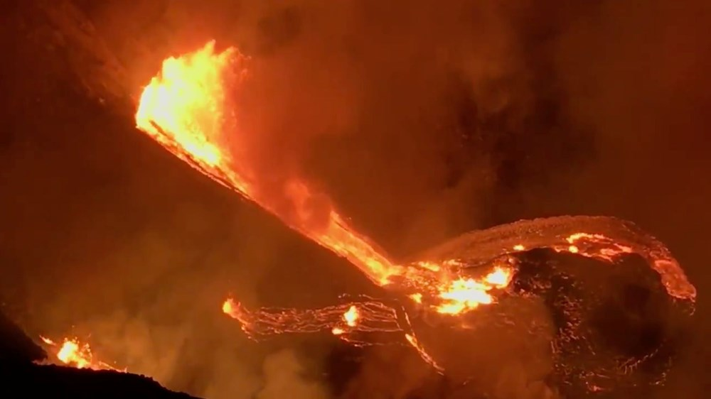 Kilauea Yanardağı'nda patlamaları: Krater gölü buharlaştı - 6