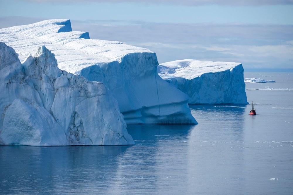 İklim değişikliği nedeniyle Grönland'de büyük bir buz tabakası koptu - 4