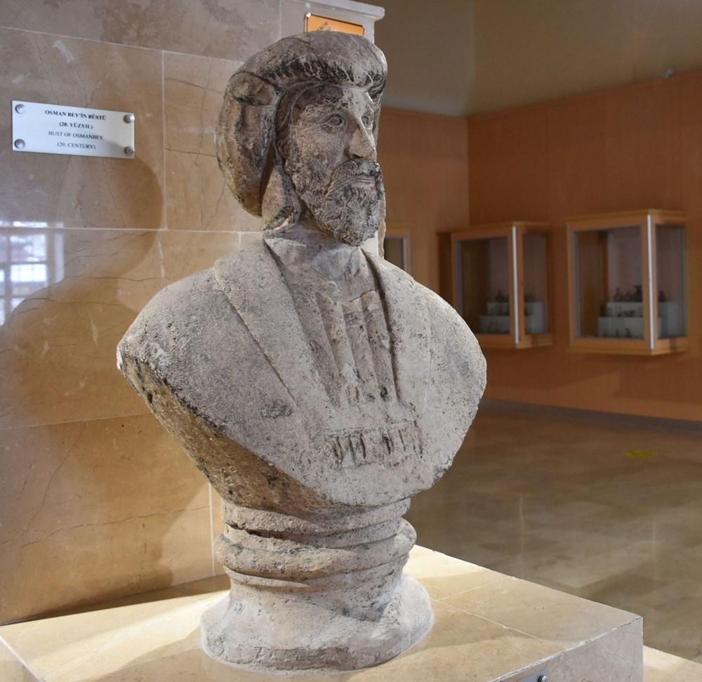 1916 yapımı Osman Gazi büst heykeli Sivas Arkeoloji Müzesi'nde - 2