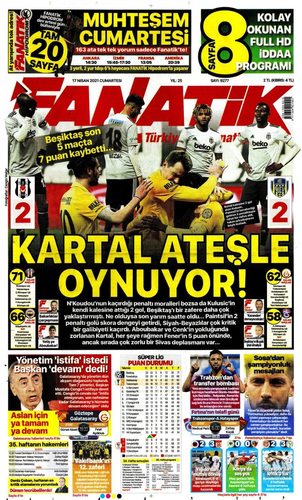 Günün spor manşetleri (17 Nisan 2021) - 4
