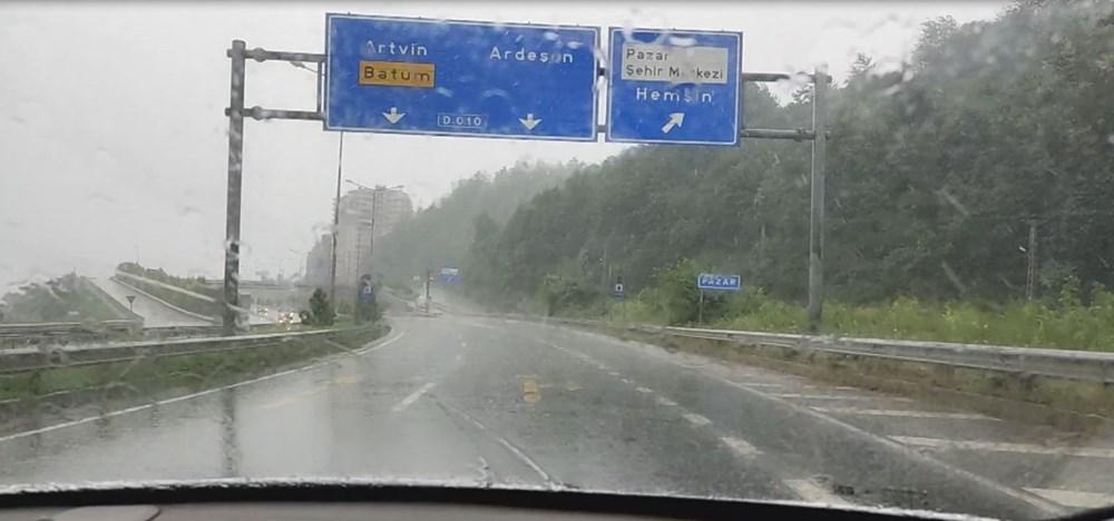 Rize ve Artvin'de beklenen yağış başladı: Arhavi'de iki mahalleyi su bastı - 4