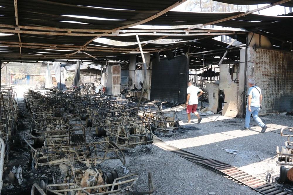 Manavgat'ta safari tesisi küle döndü, alevlerin arasında kalan işletme sahibi ölümden döndü - 9