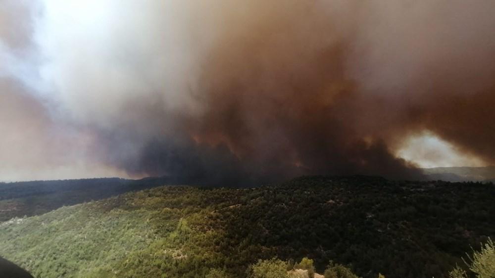 Antalya Manavgat'ta büyük orman yangını - 4