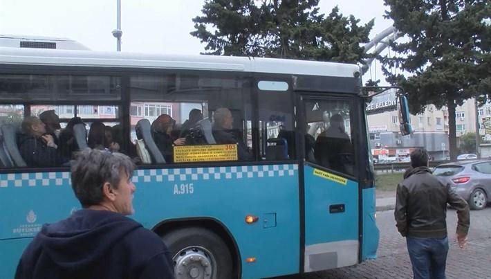 İstanbul Büyükçekmece'de halk otobüsünde taciz iddiası ortalığı karıştırdı