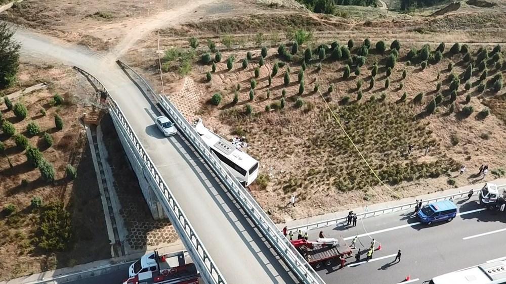 Kuzey Marmara Otoyolu'nda otobüs yoldan çıktı: 5 ölü, 25 yaralı - 17
