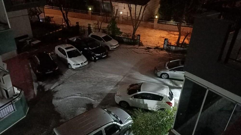 İzmir'de dolu etkili oldu - 9