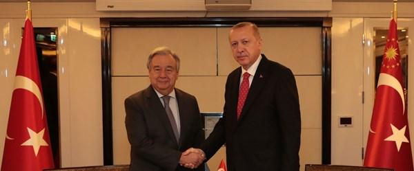 Cumhurbaşkanı Erdoğan Paris'te BM Genel Sekreri Guterres ile görüştü