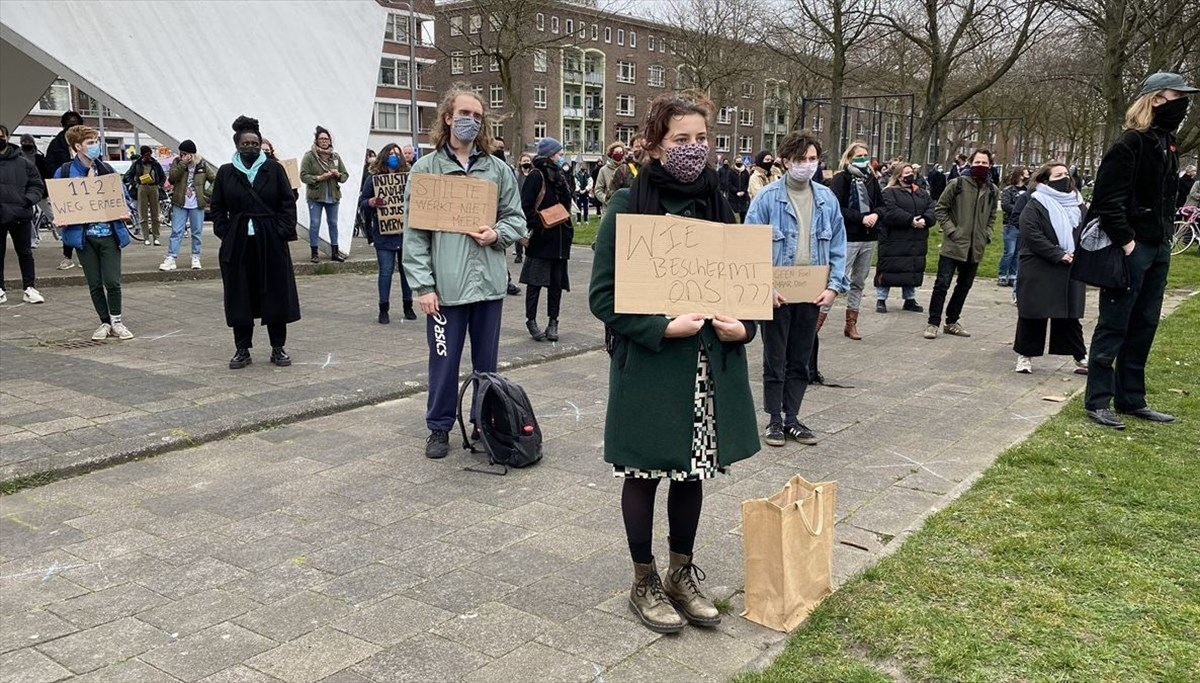 Racist statements by police about murdered Turkish youth were protested in the Netherlands