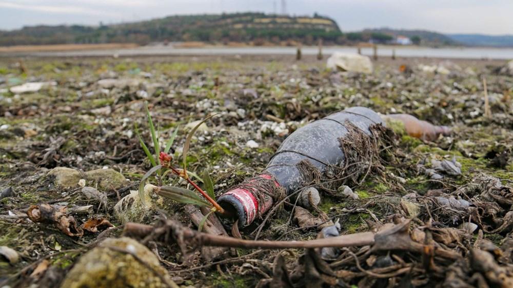 Terkos Gölü 100 metre çekildi, kirlilik ortaya çıktı - 3