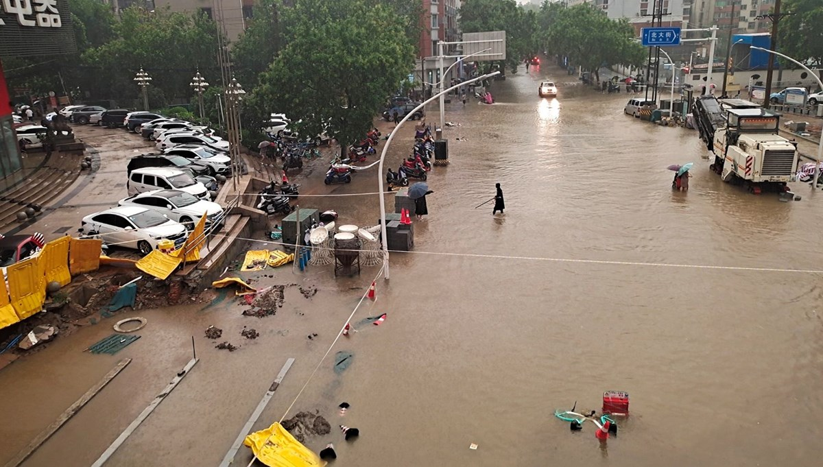 The heaviest rain in a thousand years caused flooding in China: 12 people died