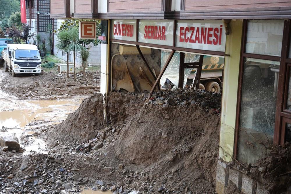 Rize'de sel ve heyelan afetinin hasarı gün ağarınca ortaya çıktı - 19