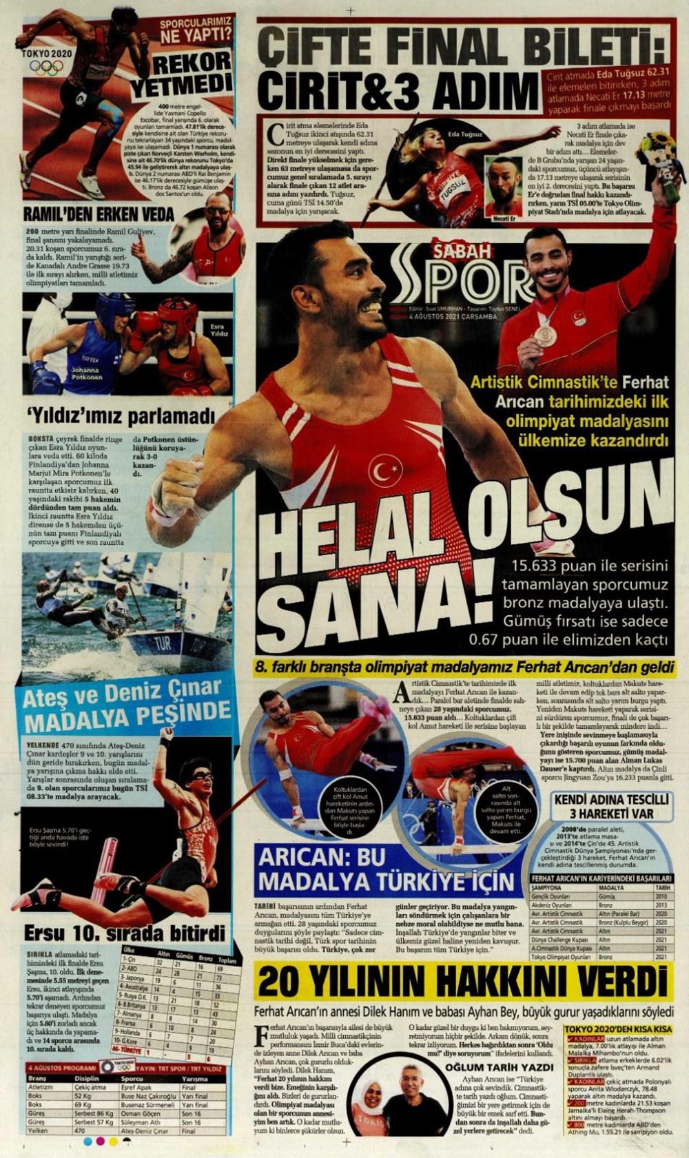 Günün spor manşetleri (4 Ağustos 2021) - 8
