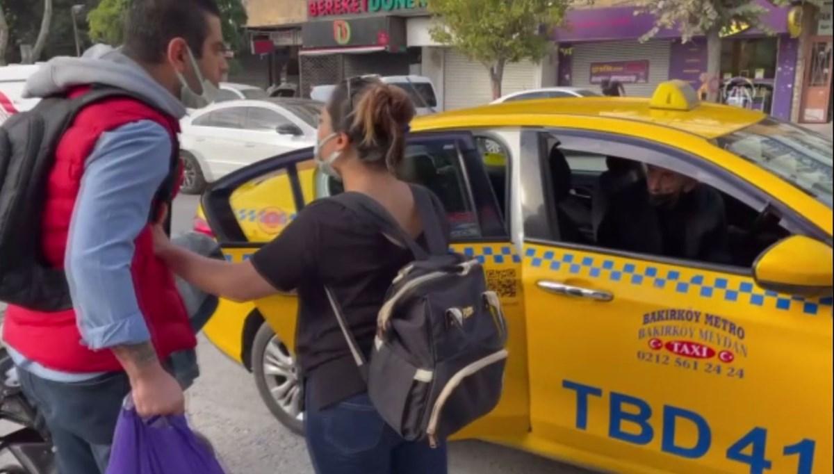 Bakırköy'de taksi şoförüne kısa mesafe cezası