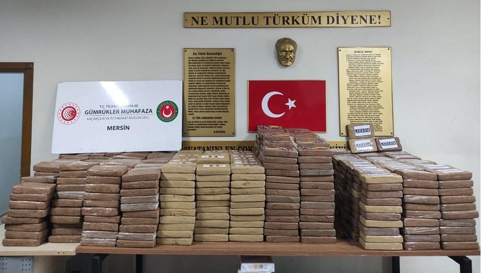 Mersin Limanı'nda1 ton kokain ele geçirildi