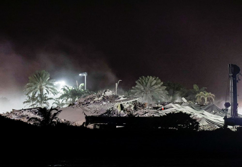 The rest of the collapsed building in Miami was demolished - 6