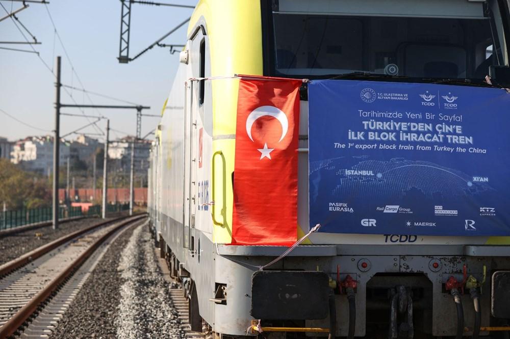 Türkiye'den Çin'e gidecek ilk ihracat treni İstanbul'dan uğurlandı - 14