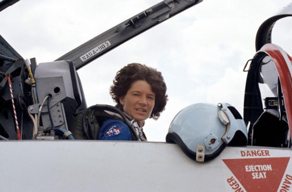 Ride'ın ilk uzay görevinden üç gün önce çekilen fotoğrafı.