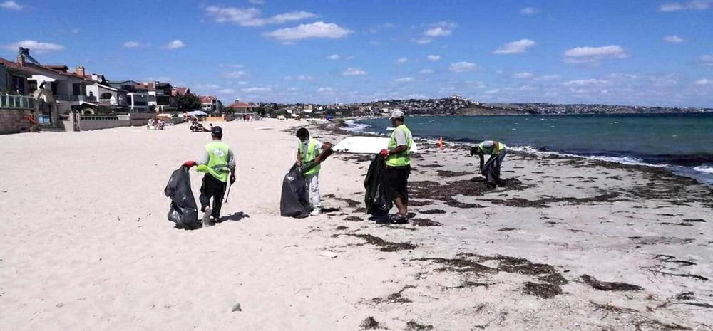 Tekirdağ'ın tatil beldesinde 500 ton çöp toplandı - 2