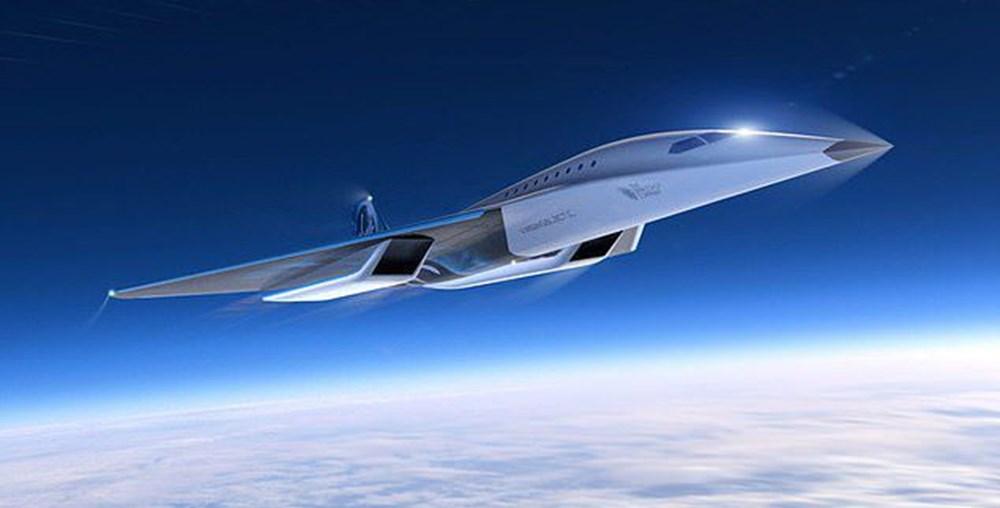 Uzay şirketi tasarımını paylaştı! İşte sesten 3 kat hızlı giden süpersonik jet - 2