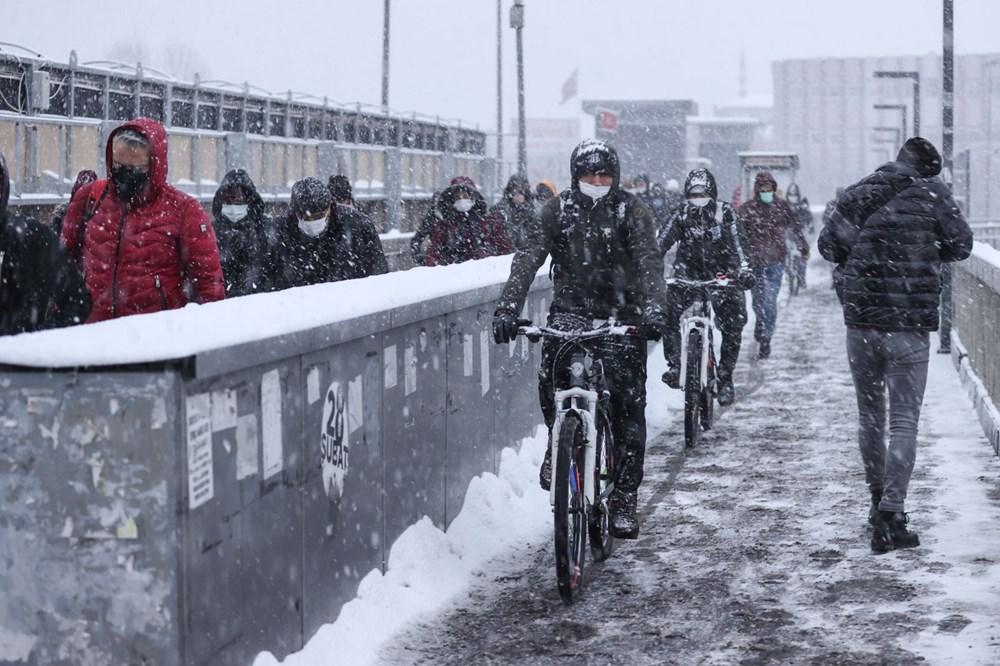 İstanbul'da kar yağışı yeniden etkisini artırdı - 13