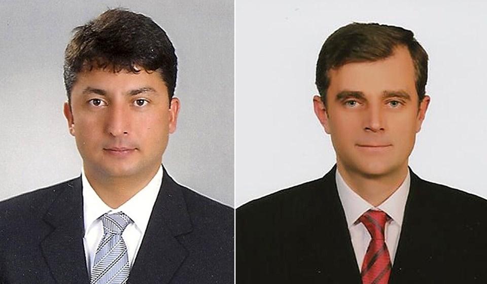 Helikopterin pilotları Alaattin Nacar (solda) ve Ahmet Bulut.