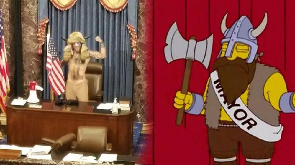 Simpsonlar'ın (The Simpsons) kehaneti yine tuttu: ABD'de Kongre Binası işgali - 1