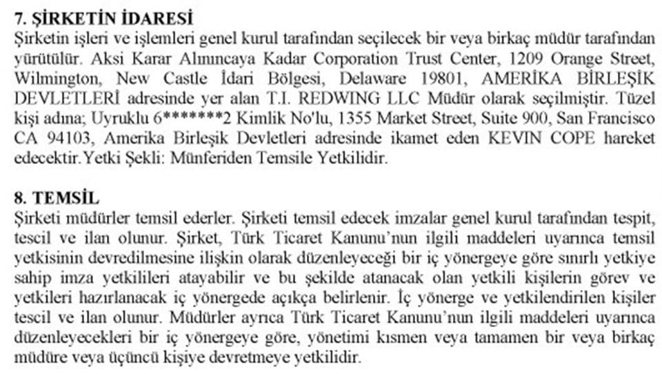 Kaynak: Türkiye Ticaret Sicili Gazetesi