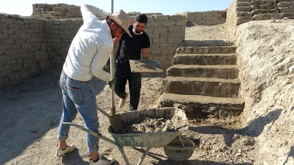 Urartular'a ait 2 bin 750 yıllık tahıl ambarları koruma altına alınıyor - 11