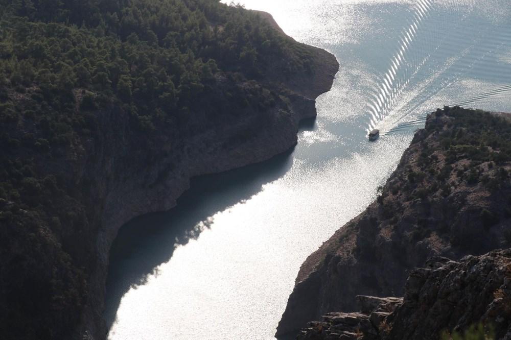 Doğa harikası İnceğiz Kanyonu'nun suyu çekildi - 9
