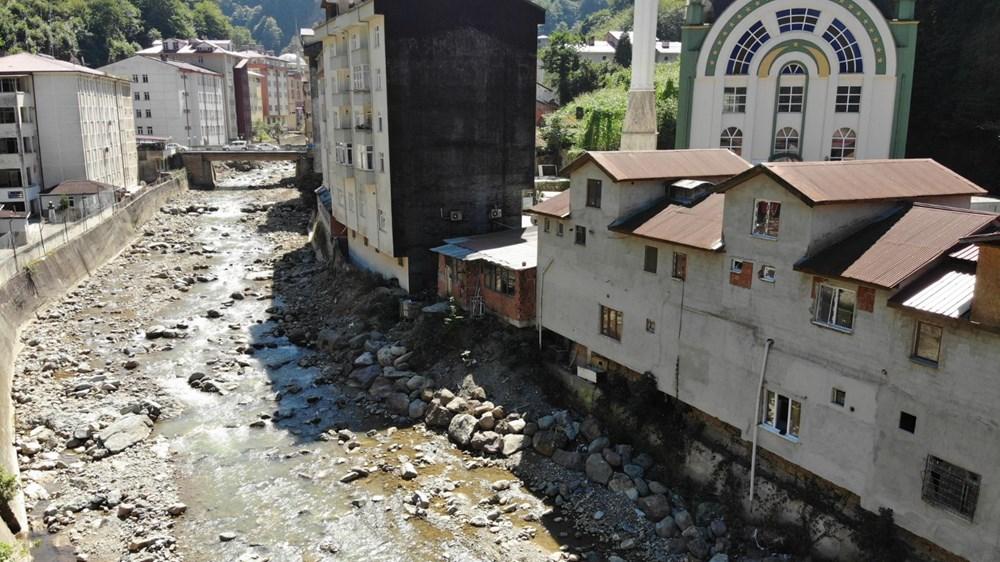 Trabzon'da tedirgin eden görüntü: Giresun'un Dereli ilçesi gibi sel riski taşıyor - 16