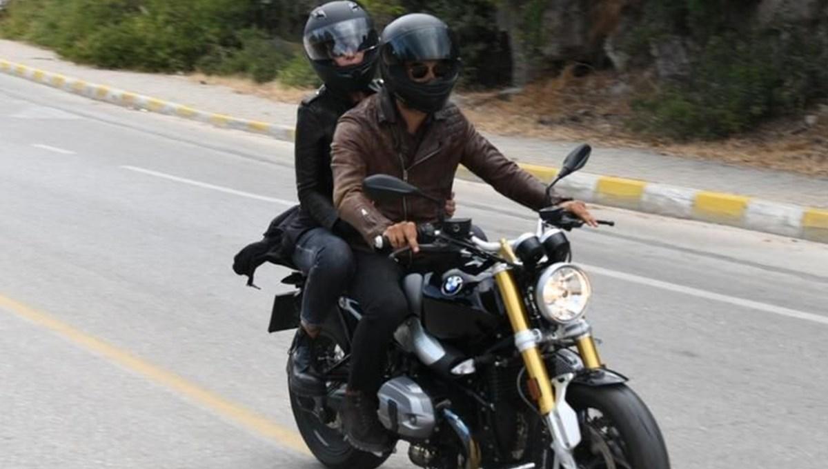 Sıla ile İlker Kaleli ilk kez birlikte görüntülendi: Motosikletle Bodrum turu
