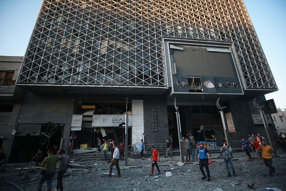 İsrail, Gazze'de sivillerin bulunduğu 14 katlı binayı vurdu - 37