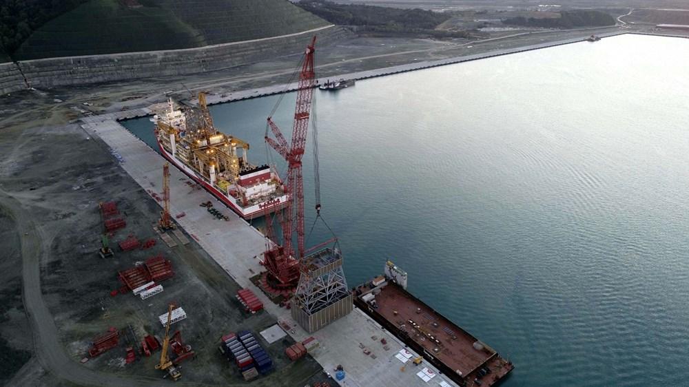 Kanuni sondaj gemisinin kule montaj çalışmaları başladı - 5