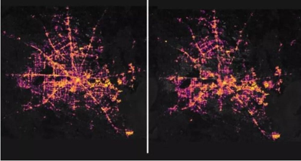 Milyonlarca kişiyi etkileyen kesinti yörüngeden görüntülendi (NASA paylaştı) - 2