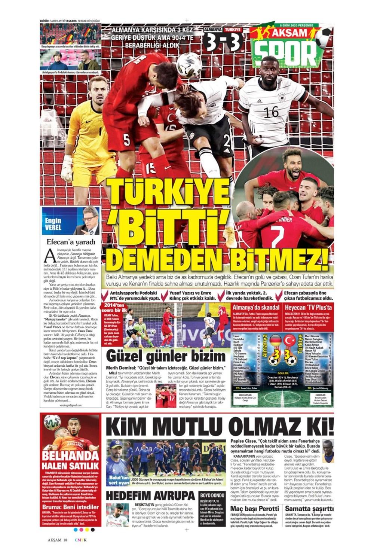 Günün spor manşetleri (8 Ekim 2020) - 1