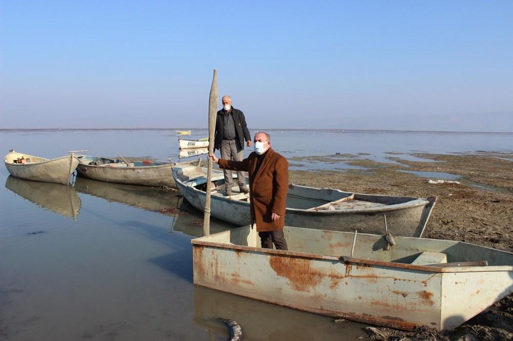 'Kuş cenneti' Marmara Gölü'nde derinlik 40 santimetreye düştü - 10