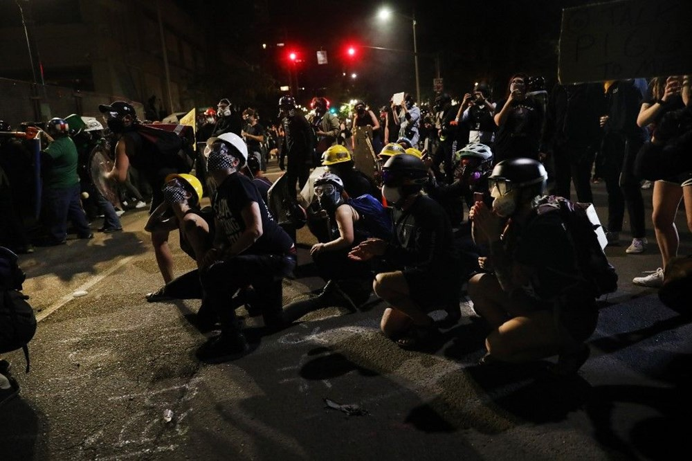 """Trump'tan şiddet eylemlerine karışan protestoculara """"en az 10 yıl hapis"""" tehditi - 17"""