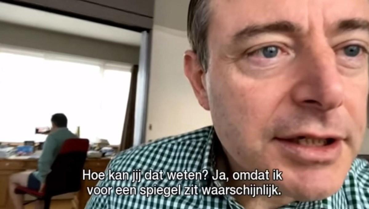 Belçika'da belediye başkanı canlı yayında iç çamaşırıyla yakalandı
