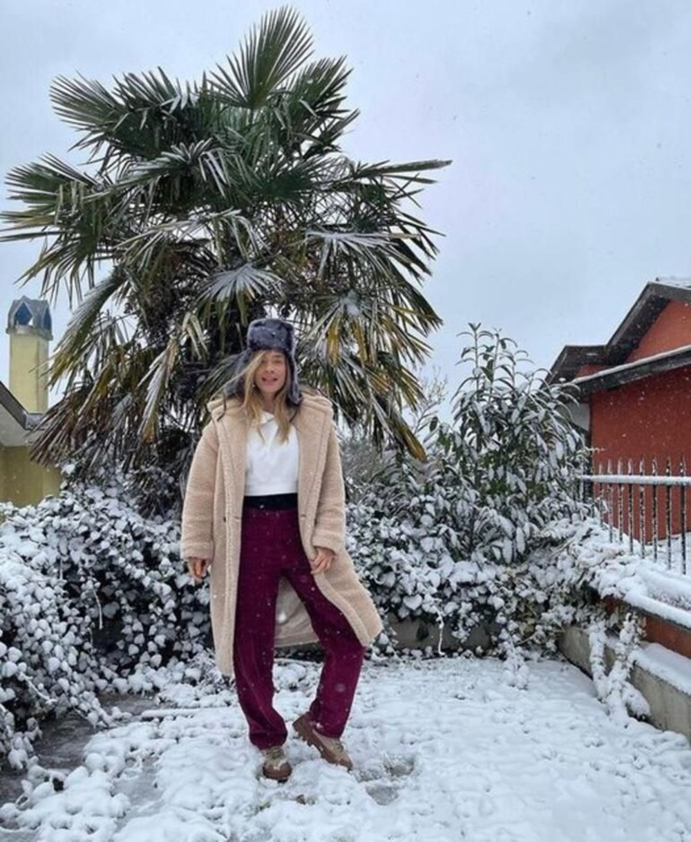 Ünlülerin kar sevinci - 10