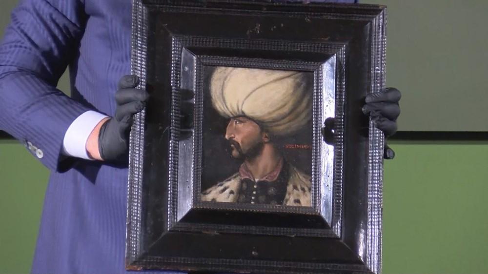 Kanuni Sultan Süleyman portresi Fatih Sultan Mehmet'in portresinin yanında - 5