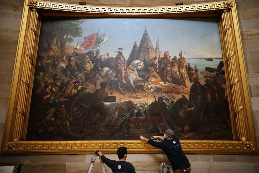 Kongre baskınında zarar gören sanat eserleri için 25 bin dolar gerekiyor - 4