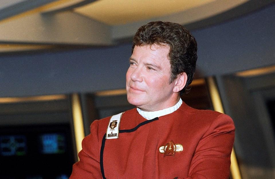 William Shatner 1988 yılında Star Trek setinde