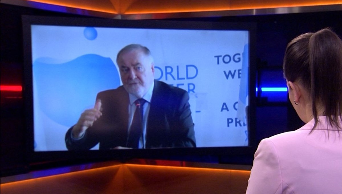 World Water Council President Fauchon on NTV: If it goes like this, thirst dies begin