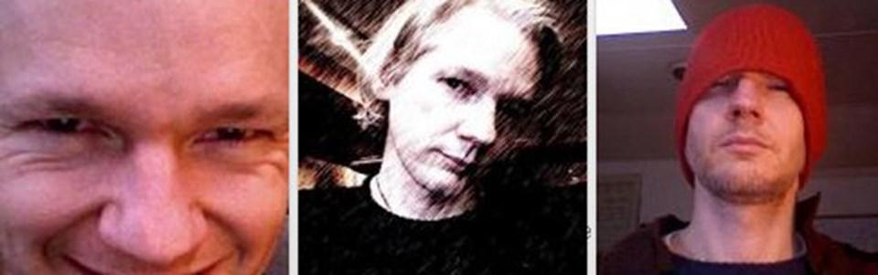Assange'in sitede üç ayrı resmi bulunuyor.