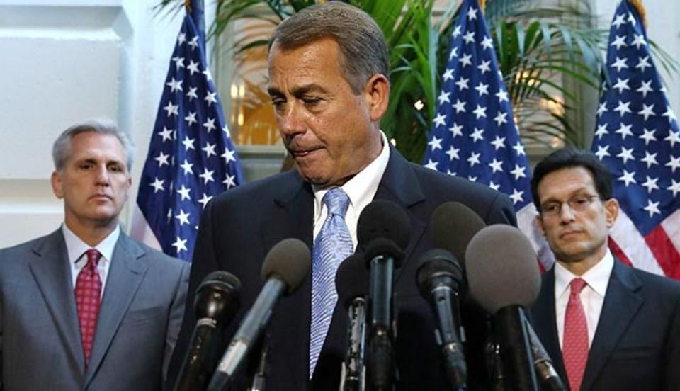 ABD Başkanı Barack Obama, Cumhuriyetçi lider Boehner'i grubuna söz geçirmemekle suçladı.
